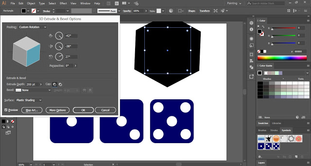 Convert the square into 3D cube