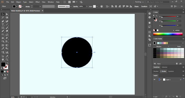 draw a circle with the help of Ellipse Tool