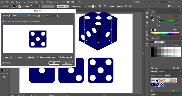 Sides of Vector Dice