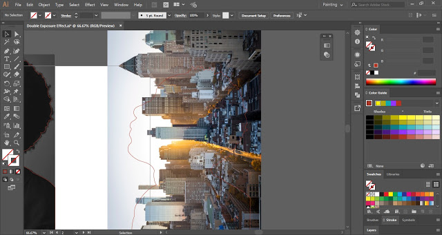 Double Exposure Portrait Effect in Adobe Illustrator