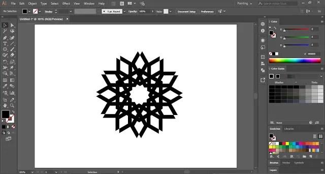 Interlaced Geometric Pattern