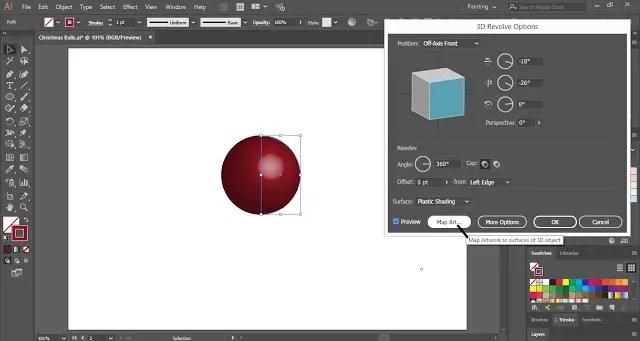 3D revolve effect