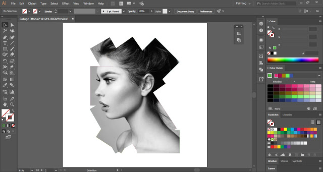 Collage Effect in Adobe Illustrator