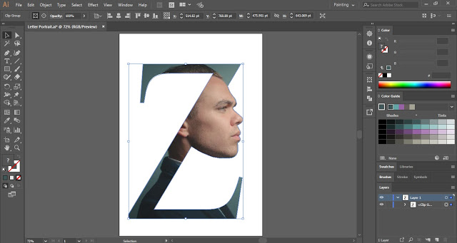 Letter Portrait in Adobe Illustrator