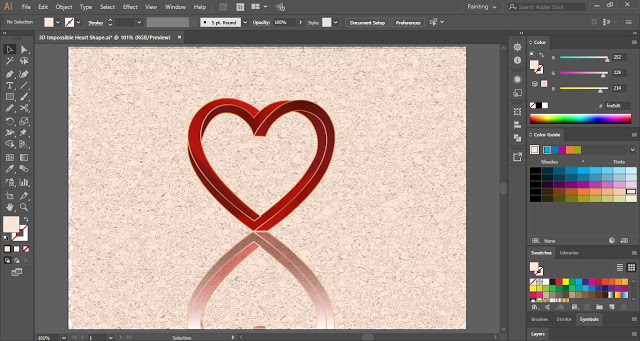 3D Impossible Heart Shape in Adobe Illustrator