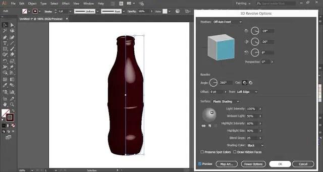 3D Revolve Options