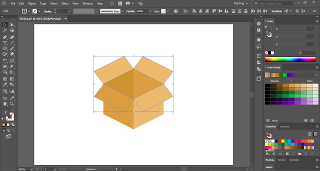 Carton Box in Illustrator