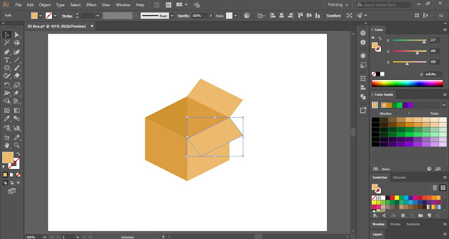 Carton Box Illustration