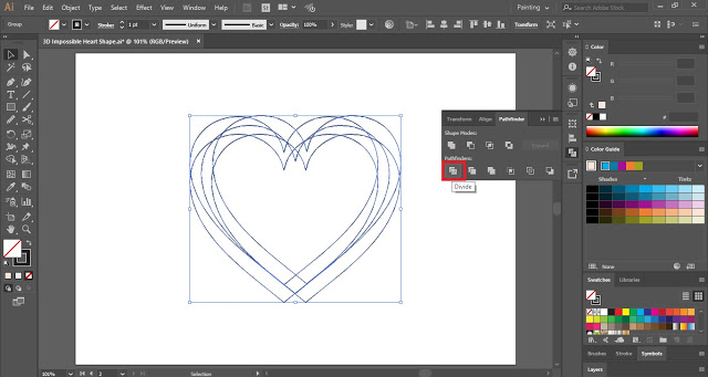 Impossible heart shape in Adobe Illustrator