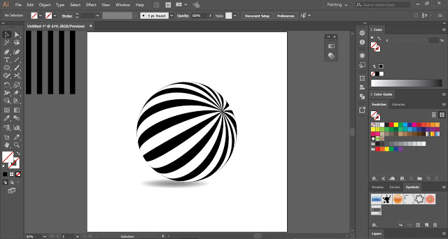 Illusion Ball in Adobe Illustrator