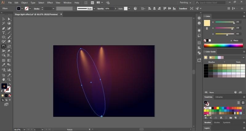 light effect in illustrator