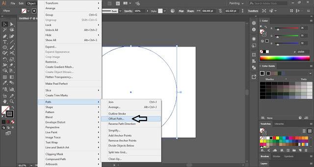 Offset path in Illustrator