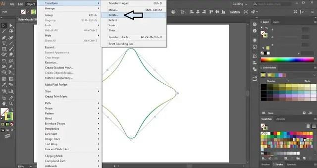 Spiro Graph Effect in Adobe Illustrator