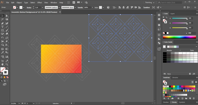 Geometric Abstract Background in Adobe Illustrator