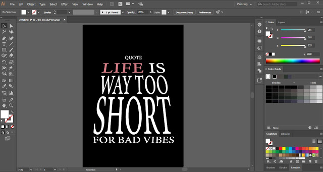 Text Wrap using Top object in Adobe Illustrator