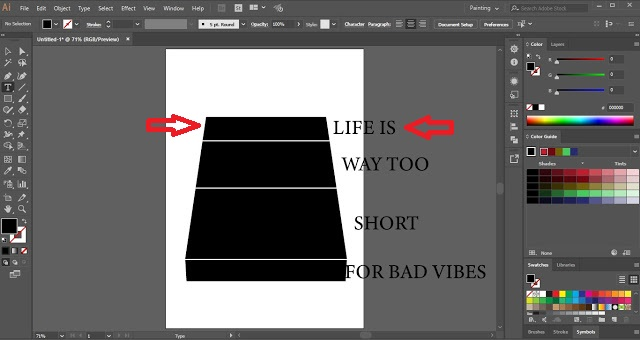 Wrap Text Using Top Object in Adobe Illustrator