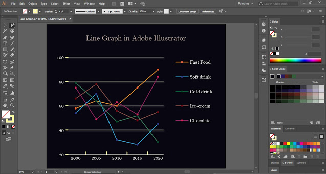 Edit Line Graph in Illustrator