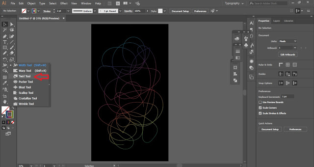 Abstract Wallpaper in Adobe Illustrator