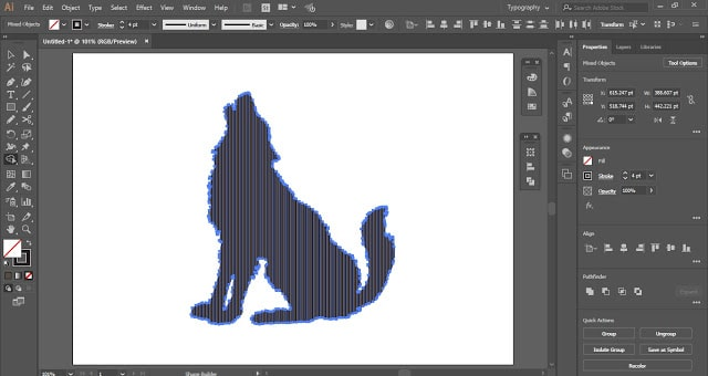 use the shape builder tool to remove the extra digital lines