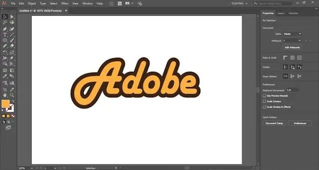 Outline Text in Adobe Illustrator