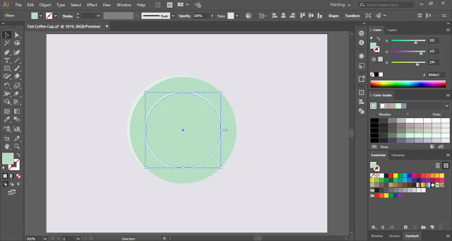 How to make Flat Coffee Cup (Top View) in Adobe Illustrator?