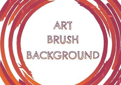 Background with Art Brush in Adobe Illustrator