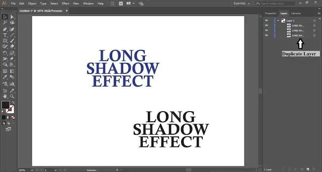 Long Shadow Effect in Adobe Illustrator