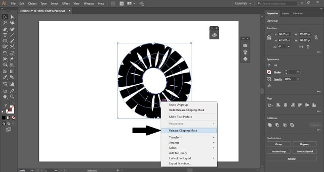 Striped 3D Shape in Adobe Illustrator
