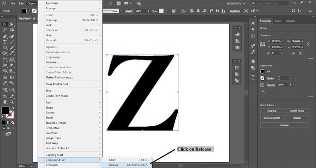 Fill Letter with Text in Adobe Illustrator