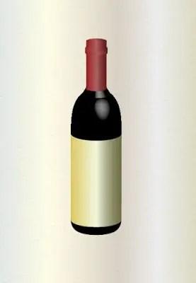 3D Wine Bottle in Adobe Illustrator