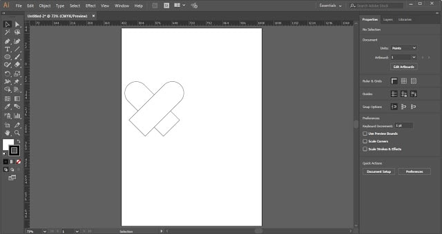 Heart Shape in Adobe Illustrator