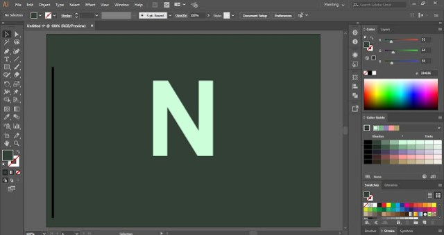Needle Text Effect in Adobe Illustrator