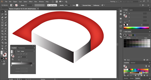 How to create Depth Illusion in Adobe Illustrator?