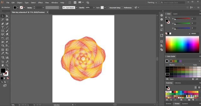 Tilde Key in Adobe Illustrator