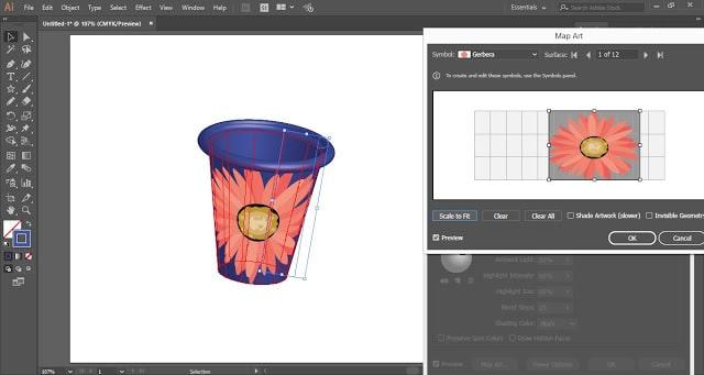 3D Tumbler in Adobe Illustrator