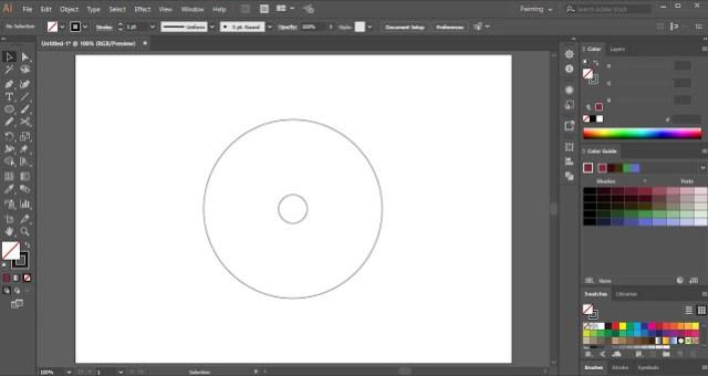 Circular Monogram Logo in Adobe Illustrator