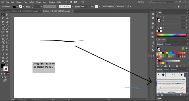 Custom Art Brush in Adobe Illustrator