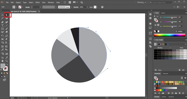 Pie Chart in Adobe Illustrator