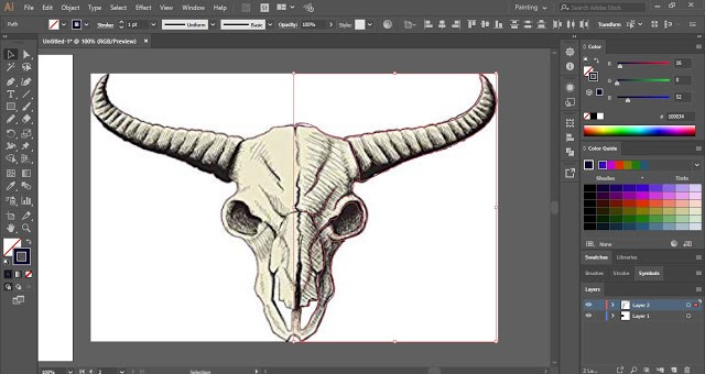 X-ray Effect in Adobe Illustrator