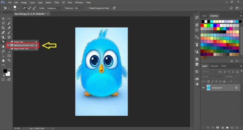 Select Background Eraser Tool