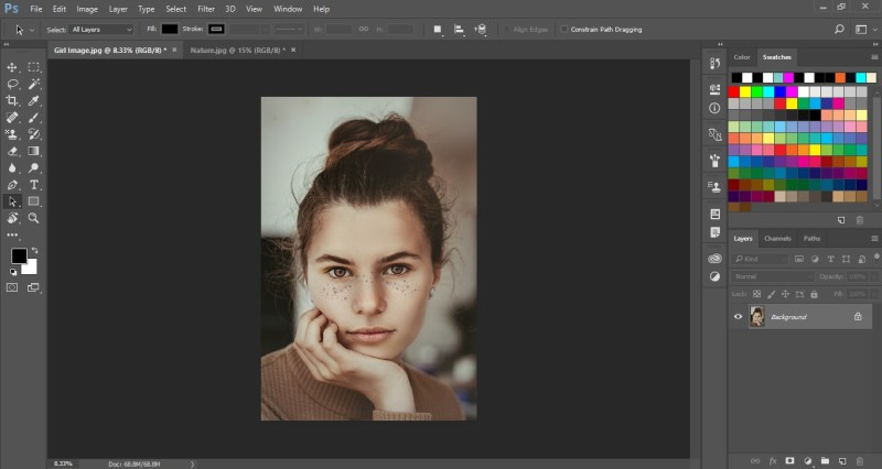 Open image in Photoshop