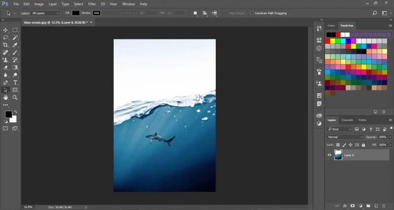 Flip image horizontally in Photoshop