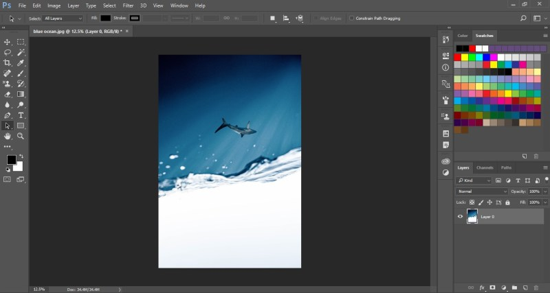 Image flipped vertically in Photoshop