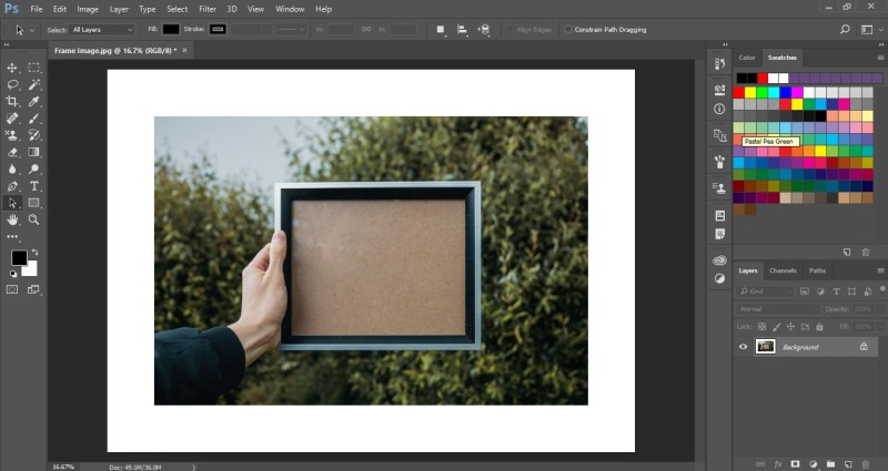 Change Canvas Size in Photoshop