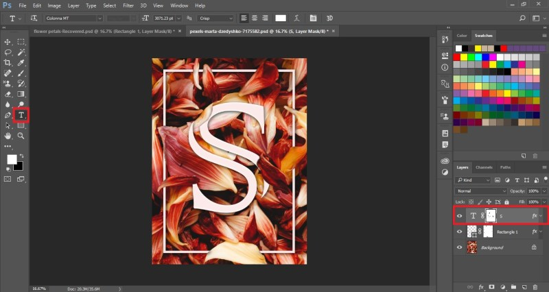 Floral Typography Text Effect