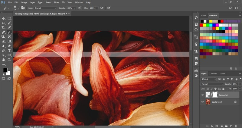 Reveal the flower petals using layer mask