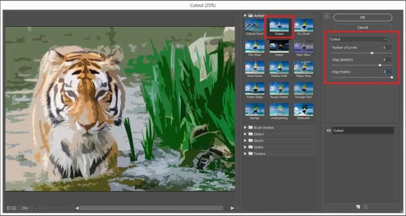 Select Cutout Filter