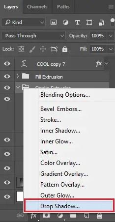 Select Drop Shadow