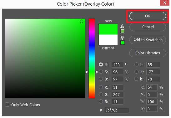 Select color from Color Picker
