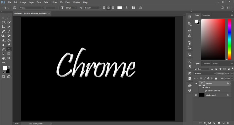 Chrome Text Effect in Photoshop